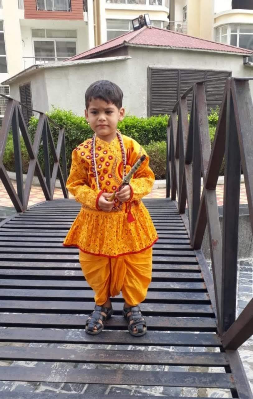 e0b40701037b7 Krishna Boys Janmashtami Fancy Dress Costume - Kids Fancy Dress